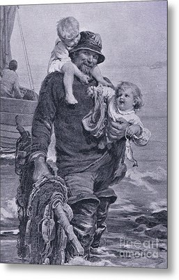 The Ferry Metal Print by Frederick Morgan