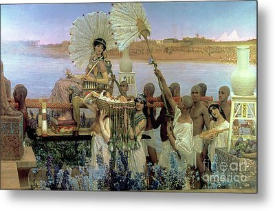 The Finding Of Moses Metal Print by Sir Lawrence Alma Tadema