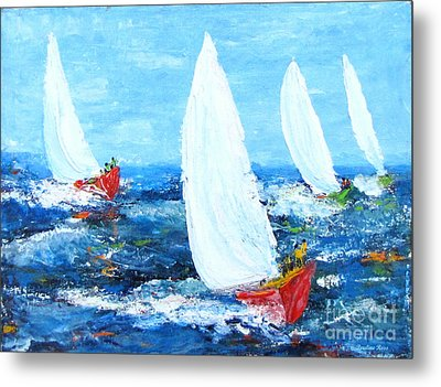 The Finish  Metal Print by Pauline Ross
