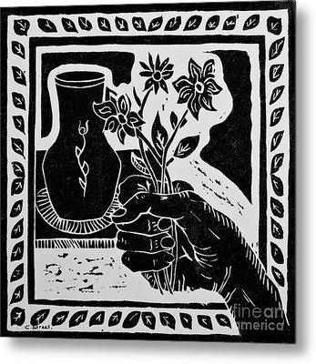 The Florist Metal Print