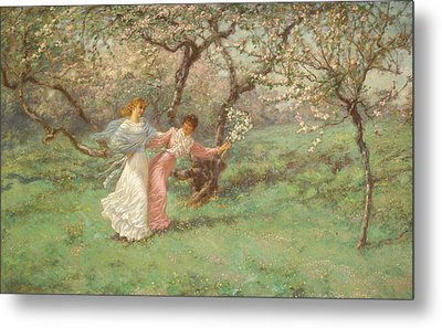 The Flowers Of May Metal Print by William John Hennessy