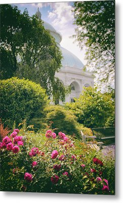 The Garden Conservatory Metal Print by Jessica Jenney