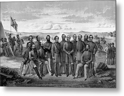 The Generals Of The Confederate Army Metal Print by War Is Hell Store