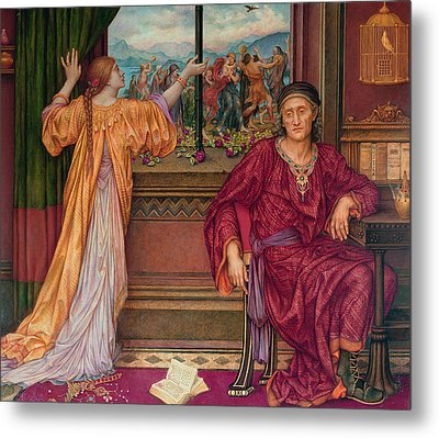 The Gilded Cage Metal Print by Evelyn De Morgan