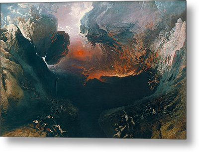 The Great Day Of His Wrath Metal Print by John Martin