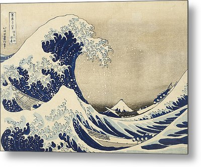 The Great Wave Metal Print by Katsushika Hokusai