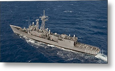 The Guided-missile Frigate Uss Reuben Metal Print by Stocktrek Images