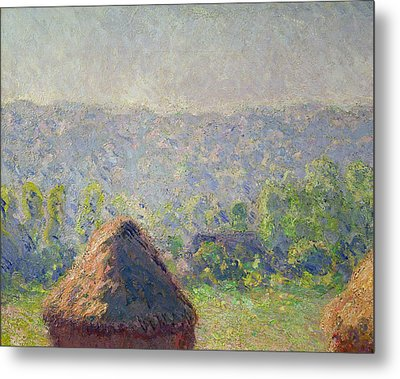 The Haystacks Metal Print by Claude Monet