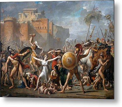 The Intervention Of The Sabine Women Metal Print by Jacques-Louis David