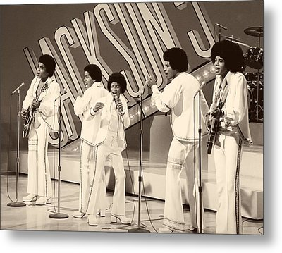 The Jackson 5 1972 Metal Print by Mountain Dreams