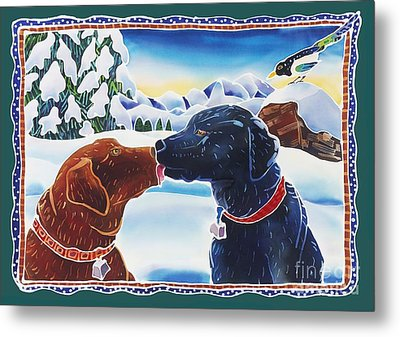 The Kiss Metal Print by Harriet Peck Taylor