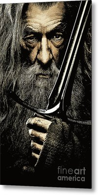The Leader Of Mankind  - Gandalf / Ian Mckellen Metal Print by Prar Kulasekara