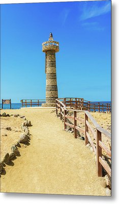The Lighthouse In Salinas, Ecuador Metal Print