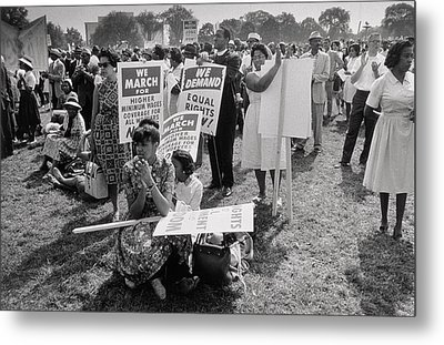 The March On Washington  At Washington Monument Grounds Metal Print by Nat Herz
