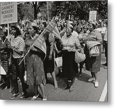 The March On Washington Metal Print by Nat Herz