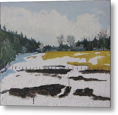 The Melting Snow Metal Print by Francois Fournier