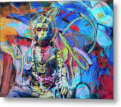 The Monkey God Metal Print by Dominic Piperata
