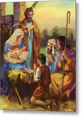 The Nativity Metal Print by Valer Ian