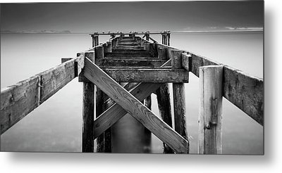 The Old Wrecked Jetty Metal Print