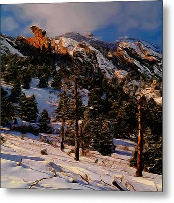 The Pass Metal Print by Wayne Bonney