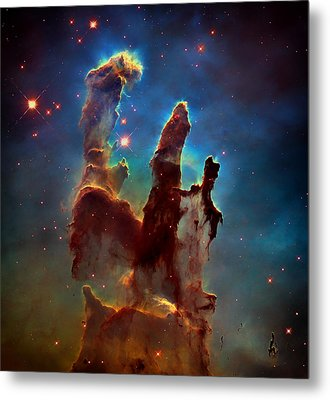 The Pillars Of Creation Metal Print by Mountain Dreams