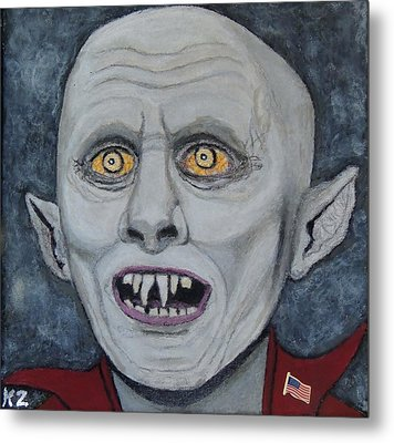 Metal Print featuring the painting The Politician. by Ken Zabel