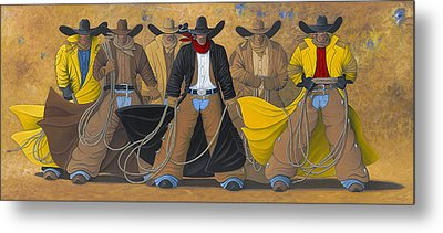 Metal Print featuring the painting The Posse by Lance Headlee