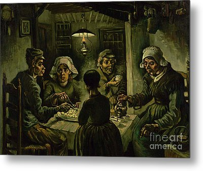 The Potato Eaters, 1885 Metal Print by Vincent Van Gogh