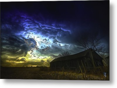 The Power Of A Storm In Formation Metal Print by  Fli Art