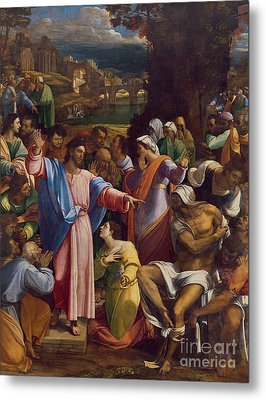 The Raising Of Lazarus Metal Print by Sebastiano del Piombo