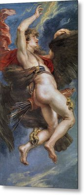 The Rape Of Ganymede Metal Print by Peter Paul Rubens