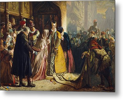 The Return Of Mary Queen Of Scots To Edinburgh Metal Print by James Drummond