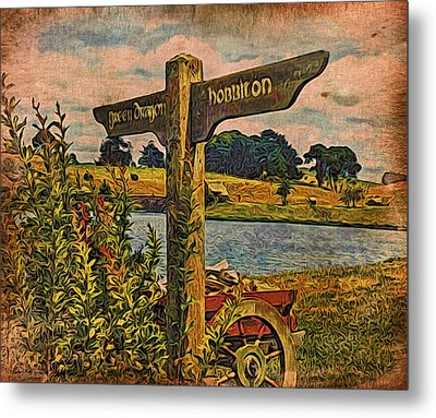 Metal Print featuring the digital art The Road To Hobbiton by Kathy Kelly