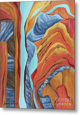 Metal Print featuring the painting The Rocks Cried Out, Zion by Erin Fickert-Rowland
