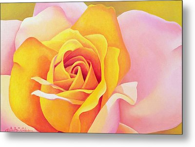 The Rose Metal Print by Myung-Bo Sim