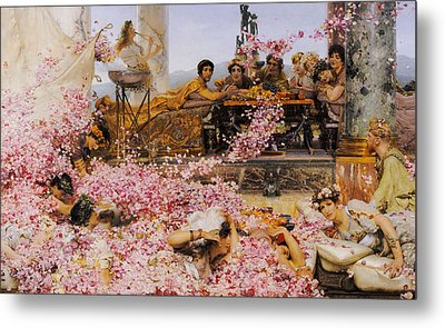 The Roses Of Heliogabalus Metal Print by Lawrence Alma-Tadema