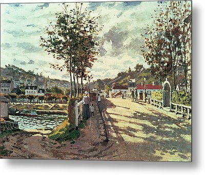 The Seine At Bougival Metal Print by Claude Monet
