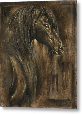 The Spirit Of A Horse Metal Print by Paula Collewijn -  The Art of Horses