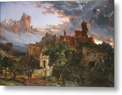 The Spirit Of War Metal Print by Jasper Francis Cropsey