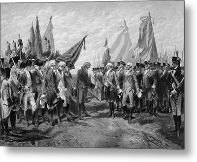 The Surrender Of Cornwallis At Yorktown Metal Print by War Is Hell Store
