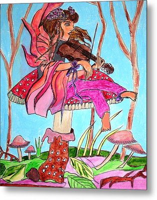 The Violinist Fairy Metal Print