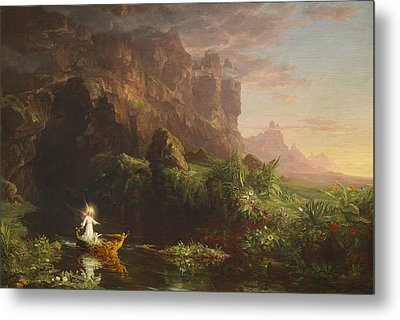 The Voyage Of Life, Childhood Metal Print by Thomas Cole