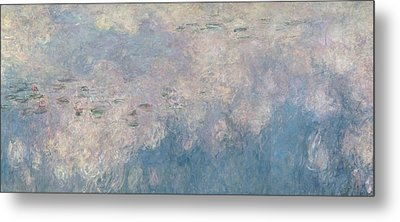The Waterlilies  The Clouds Metal Print by Claude Monet