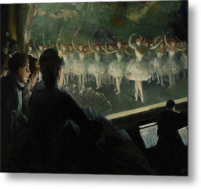 The White Ballet Metal Print by Everett Shinn