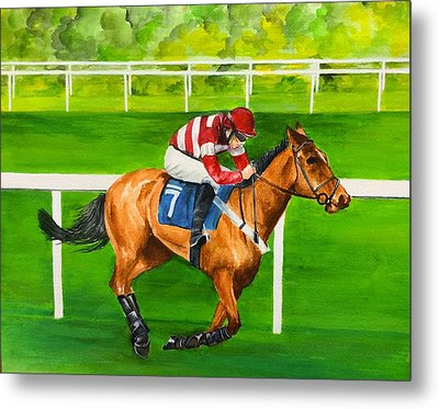 Metal Print featuring the painting The Winner Is by Ellen Canfield