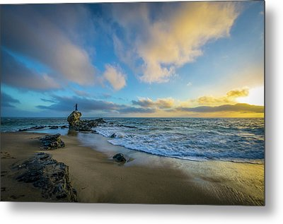 Metal Print featuring the photograph The Woman And Sea by Sean Foster