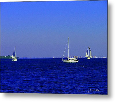 There Are Three Metal Print by Judy  Waller