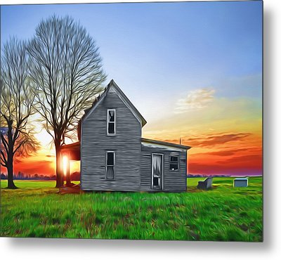 This Old House Metal Print by Steven Michael