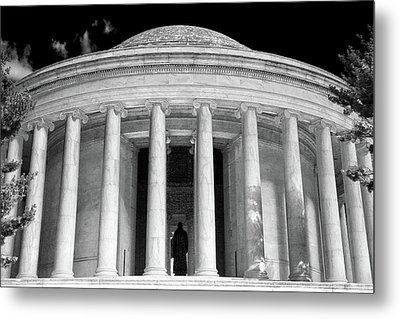 Metal Print featuring the photograph Thomas Jefferson Memorial  by Mitch Cat