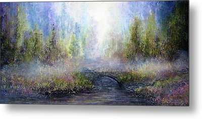 Through The Mist Metal Print by Ann Marie Bone